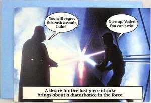 Star Wars Hallmark Darth Vader Luke Greeting Card W Envelope Sw Superstore