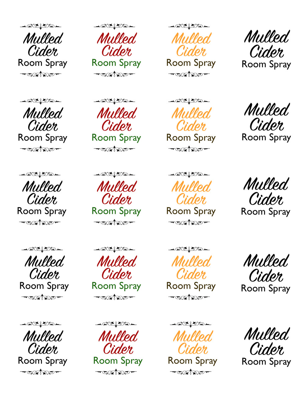 Mulled Cider Essential Oil Holiday Room Spray Template
