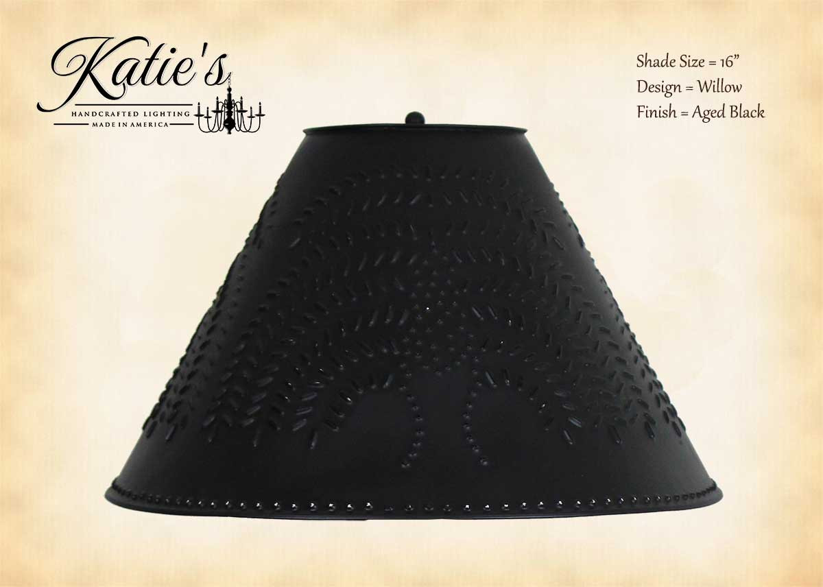 Katie S Handcrafted Lighting Punched Tin Lamp Shade Primitive Lamp Shades