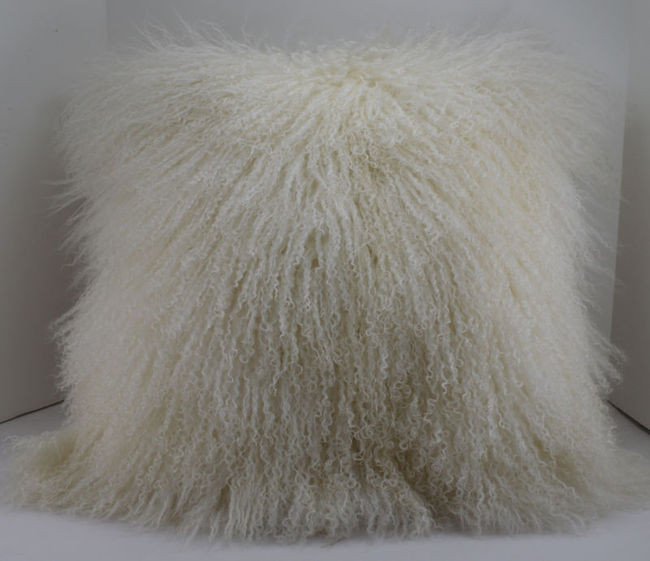 mongolian lamb pillow decor fur trimmings rrfurs