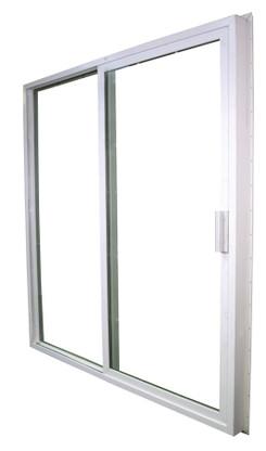 1600 series kinro vinyl rolling glass door with screen size 72 x76