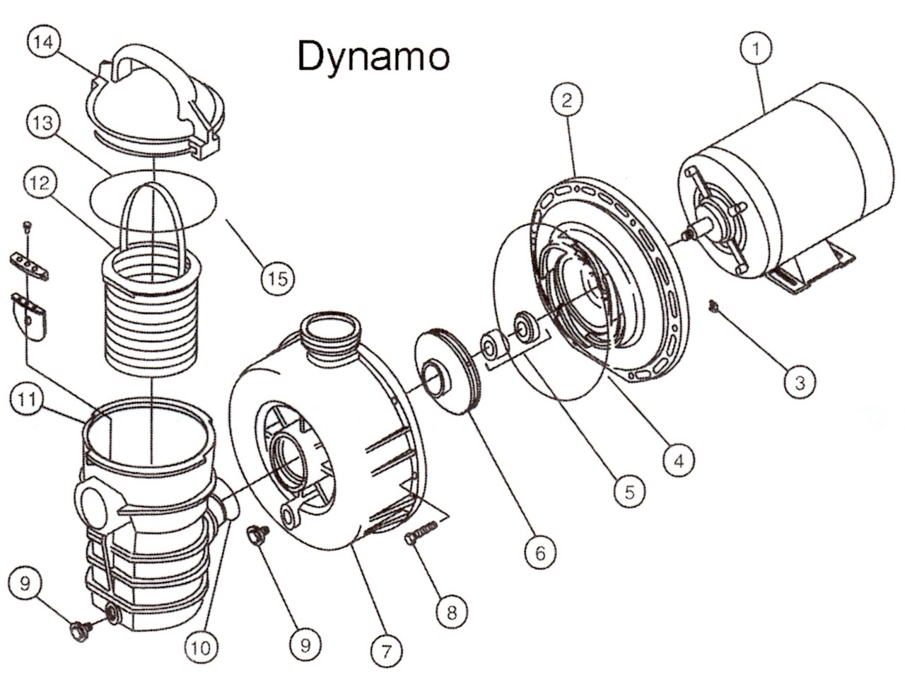 Pentair Dynamo Above Ground Pool Pump Parts