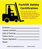 Forklift Training Certification Cards 50 Pkg Safety Emporium