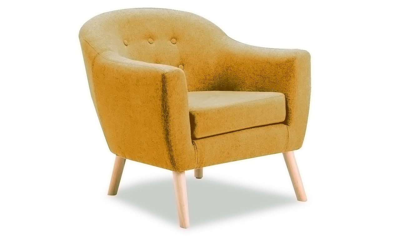 Perig Accent Chair Mustard Ideal Furniture