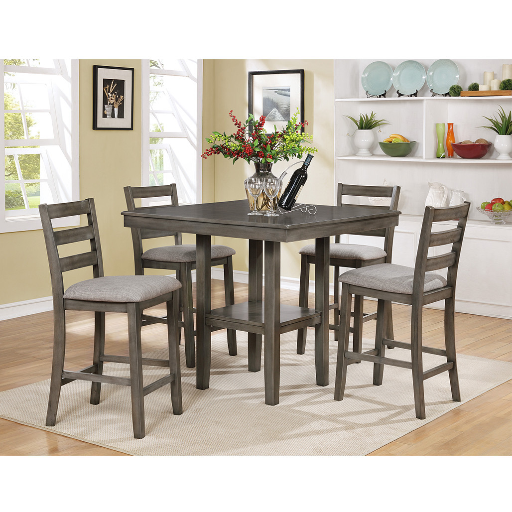 Tahoe Grey Counter Height Dining Room Set