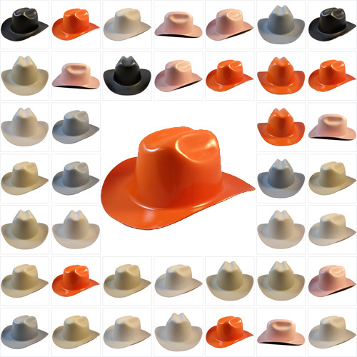 Outlaw Cowboy Hardhat With Ratchet Suspension All Colors