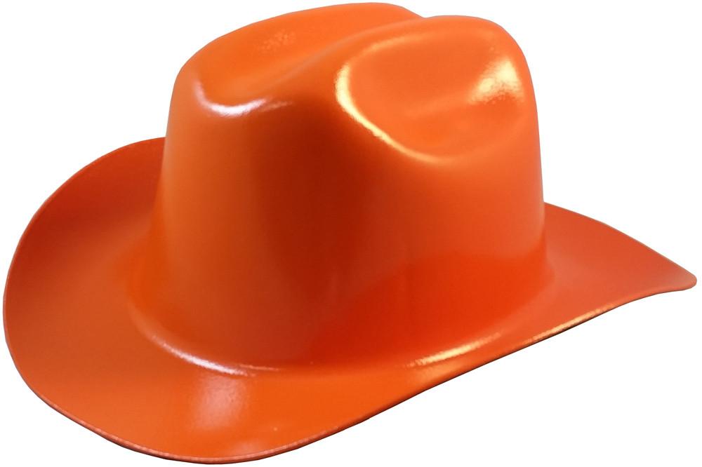 Outlaw Cowboy Hardhat With Ratchet Suspension Orange