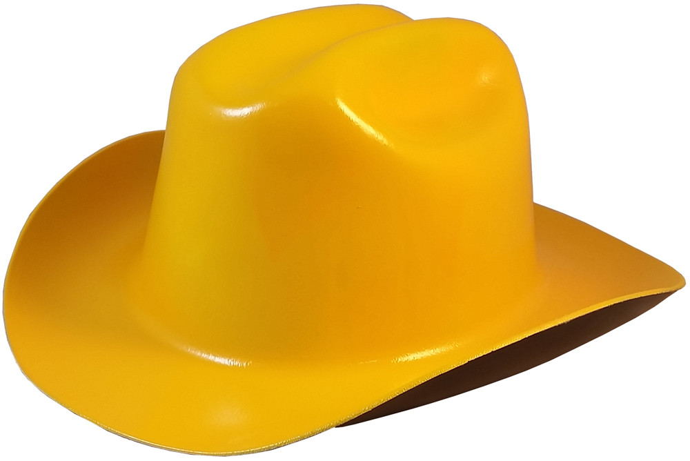 Outlaw Cowboy Hardhat With Ratchet Suspension Yellow