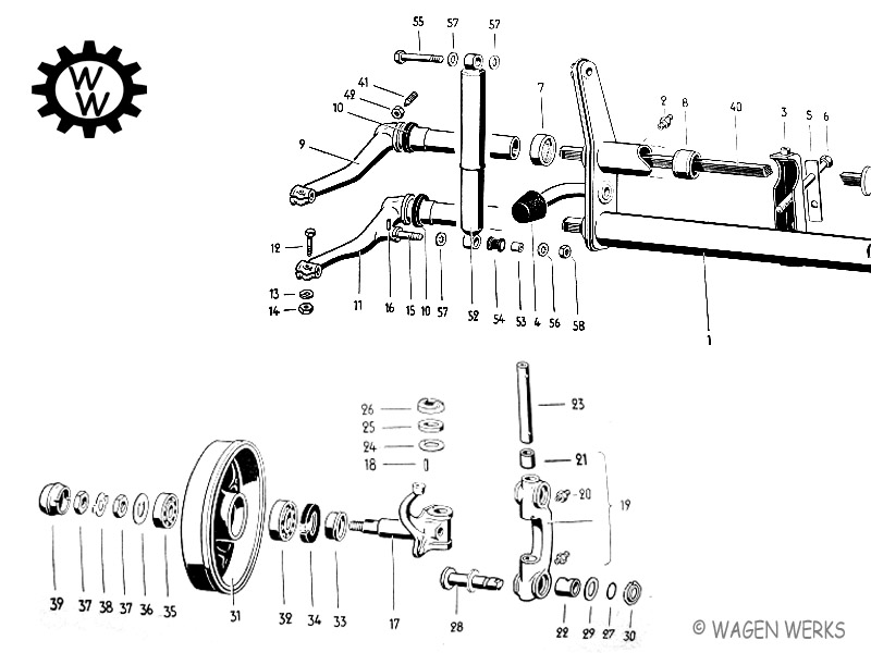 VW Bug  Front Axle  Link Pin