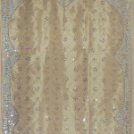 Olive Green Gold Sheer Curtain Panel Hand Embroidered Beaded Window Treatments 92 Novahaat