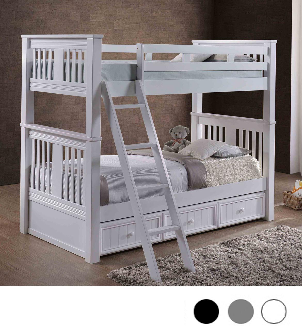 gary xl extra long twin bunk bed