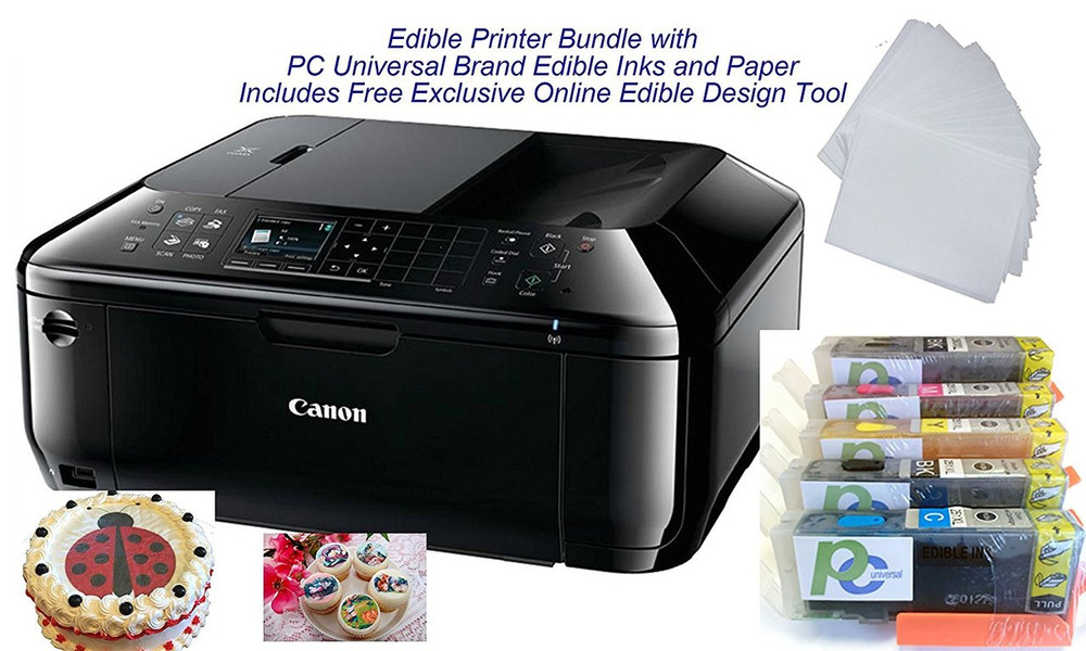 Edible Printer Bundle Brand New Canon All In One Printer With Edible Paper And Inks By Pc Universal