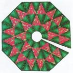 Diamond Log Cabin Tree Skirt Foundation Paper Piecing Patterns 45 1 2 X 45 1 2 Quilt Paperpiecedquilting Com