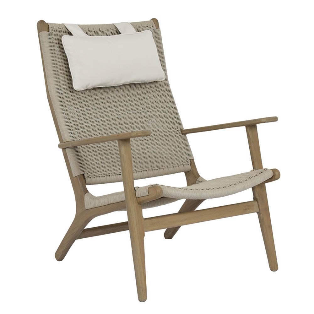 cambria teak high back chair