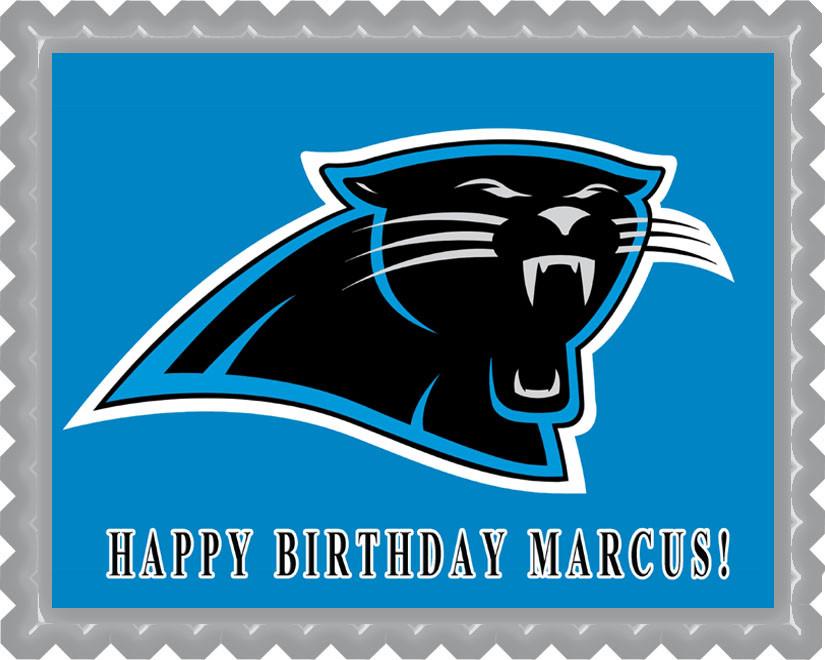 Carolina Panthers Edible Birthday Cake Topper
