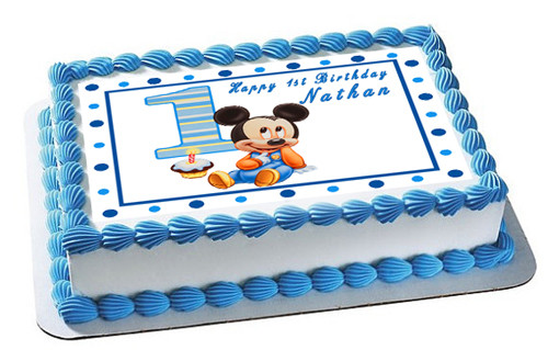Kitchen Dining Bar 30 Mickey Mouse 1st Birthday Cupcake Edible Wafer Paper Birthday Cake Toppers Home Garden