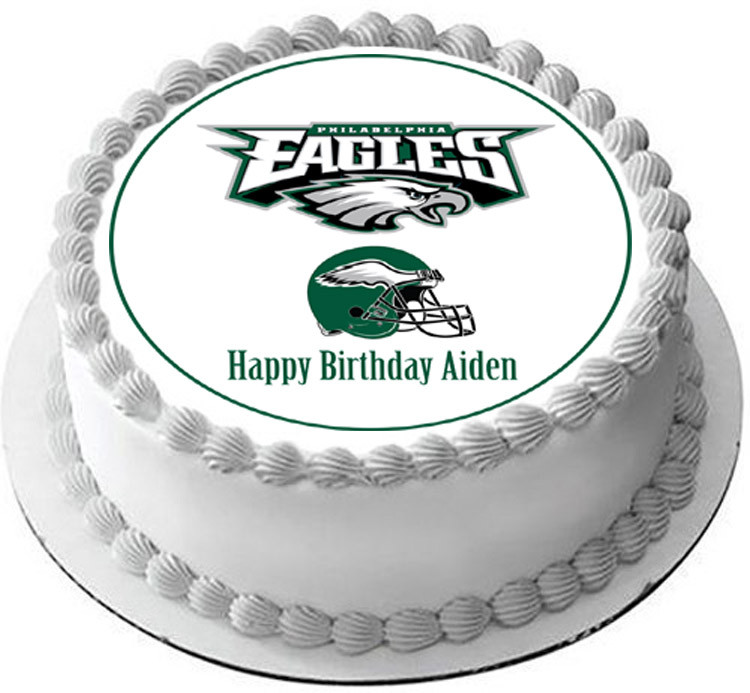 Philadelphia Eagles Edible Birthday Cake Topper