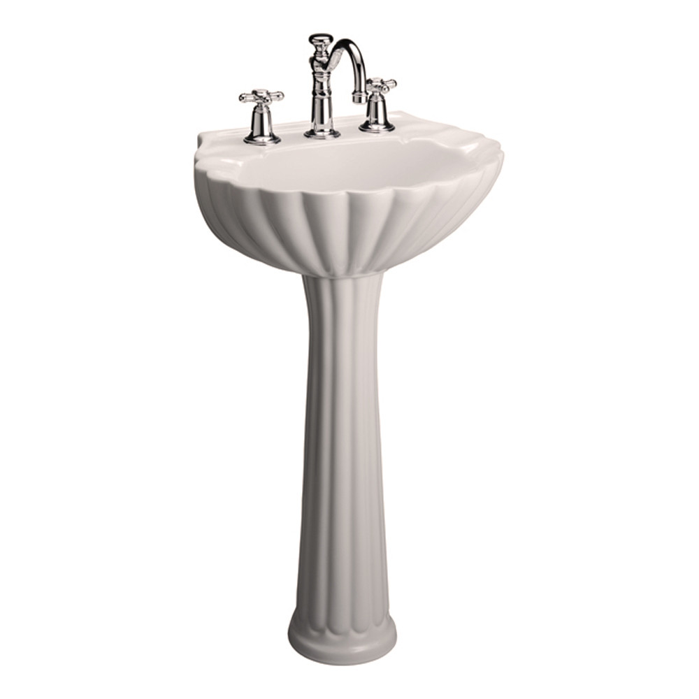Barclay Bali Pedestal Sink 4 Centerset Faucet Bisque Finish