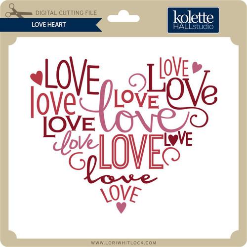Download Love Heart - Lori Whitlock's SVG Shop