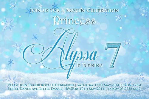 invitations frozen party