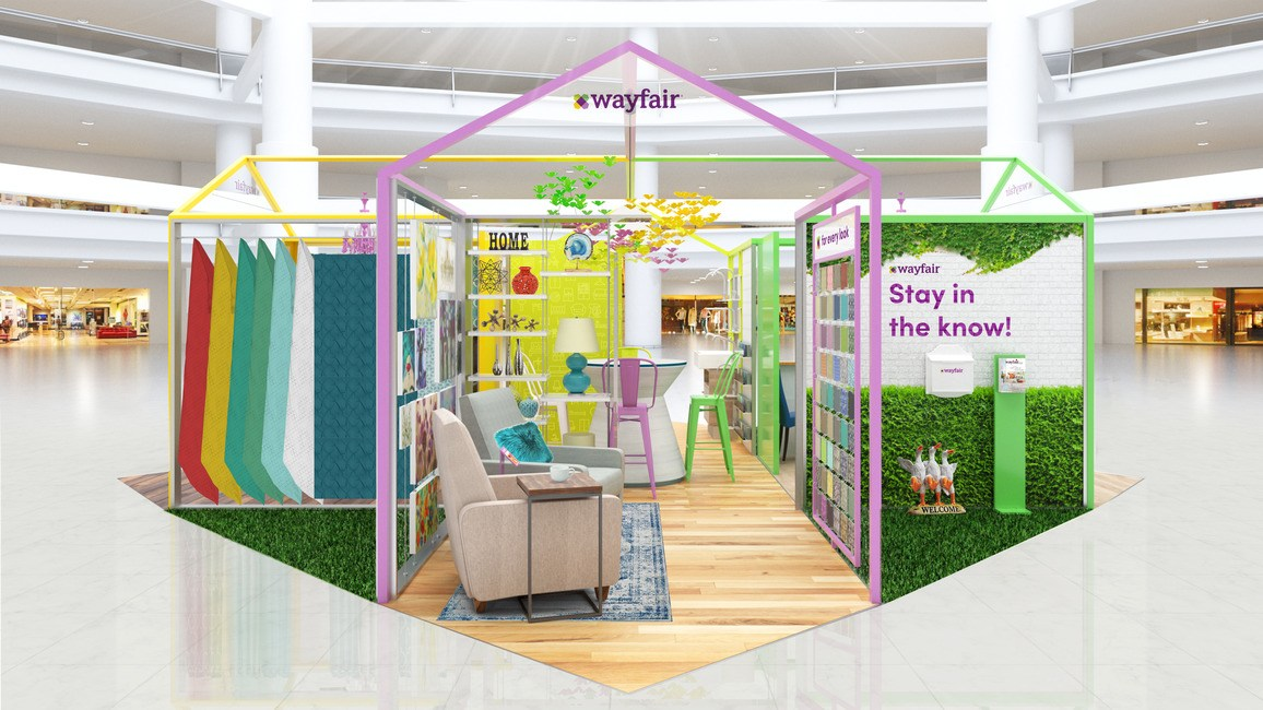 a wayfair pop up shop is coming to the