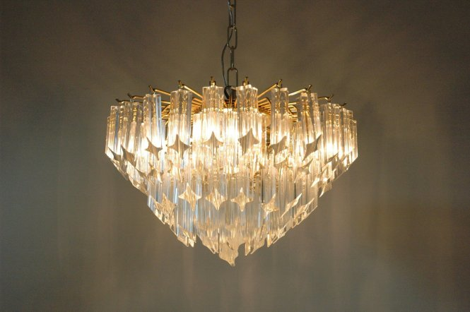 Vintage Murano Glass Quadrilobi Chandelier By Paolo Venini For Novaresi At Pamono