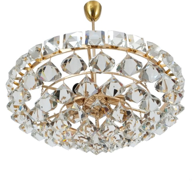 Vintage Chandelier With Pear Shaped Crystals From Bakalowits Sohne For At Pamono