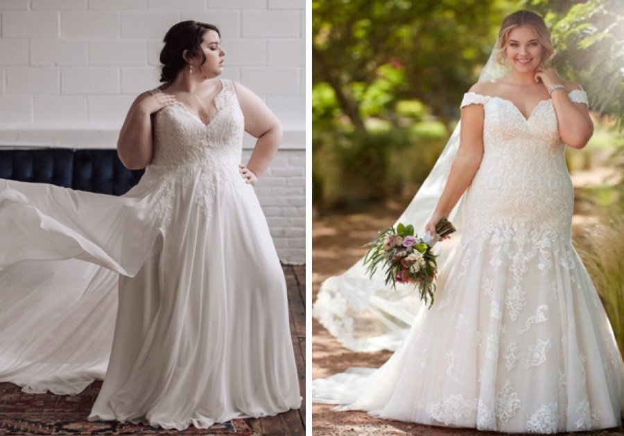 The Best Bridal Salons For Plus-Size Wedding Dresses In