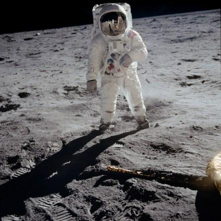 AS11-40-5903_alt - Apollo 11 - Apollo 11 Mission image - Astronaut Edwin  Aldrin walks near the Lunar Module - U.S. National Archives Public Domain  Image