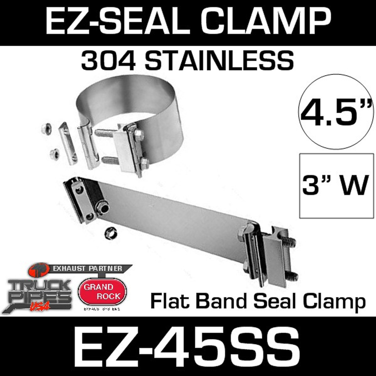 4 5 ez seal stainless steel exhaust clamp ez 45ss