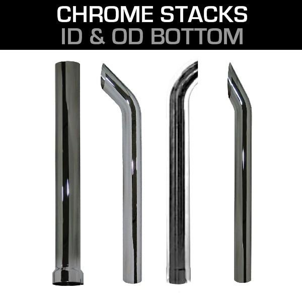 5 chrome stacks chrome exhaust tips