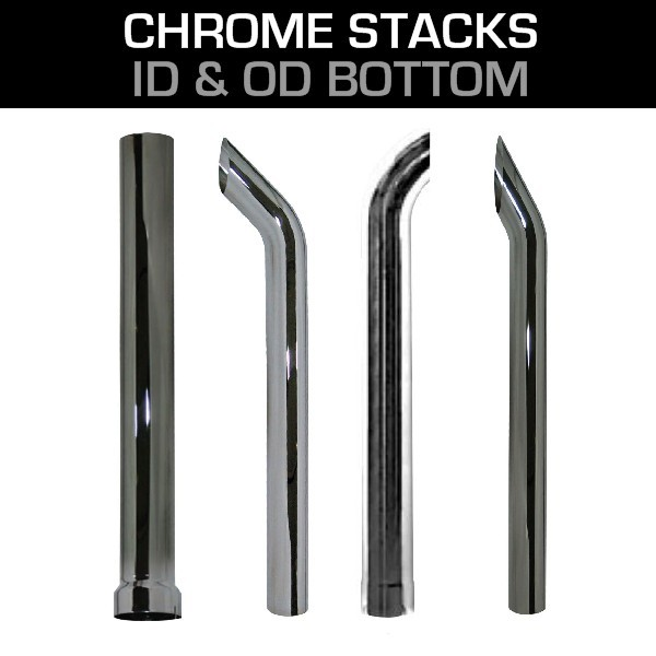 6 chrome exhaust stack pipes chrome