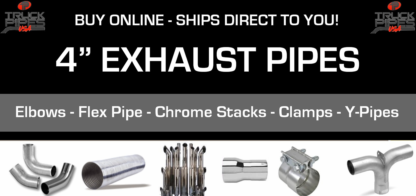 4 exhaust pipes truck exhaust 4