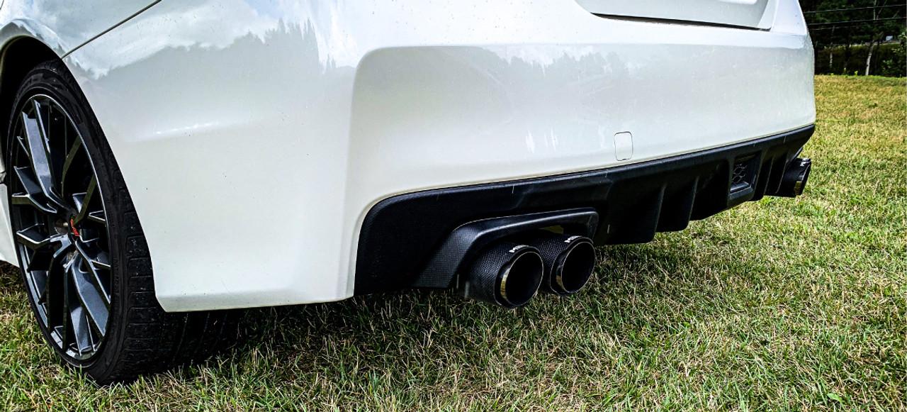 https mbrpexhauststore com 3 cat back dual split rear exit t304 with carbon fiber tips street verison subaru wrx 2 0l wrx sti 2 5l 2015 2021