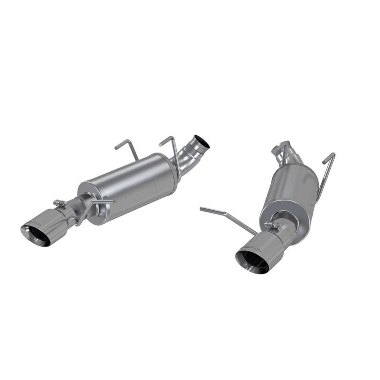 3 dual muffler axle back split rear 409 2011 2014 v6 3 7l mustang