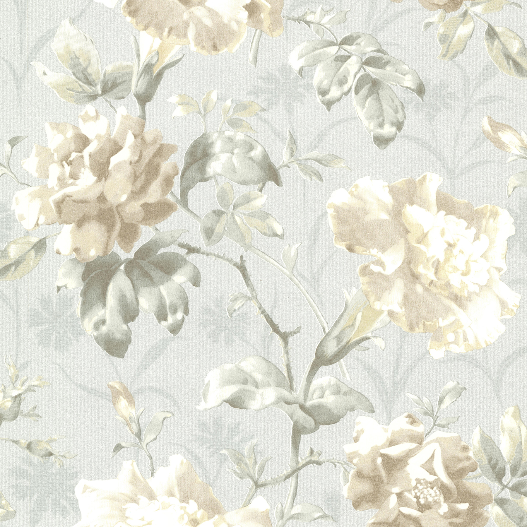 Beacon House By Brewster 2614 21000 Juliana Light Blue Vintage Floral Wallpaper The Savvy Decorator