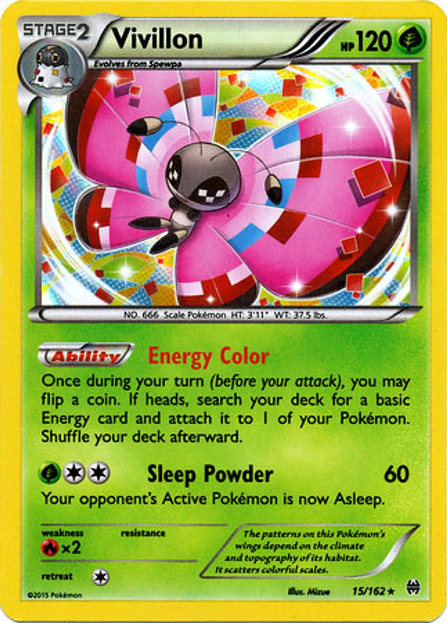 Pokemon X Y Breakthrough Single Card Rare Holo Vivillon 15 Toywiz