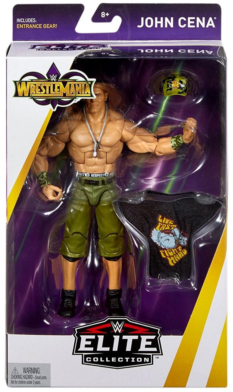 Wwe Wrestling Elite Collection Wrestlemania 34 John Cena 6 Action Figure Entrance Gear Mattel Toys Toywiz