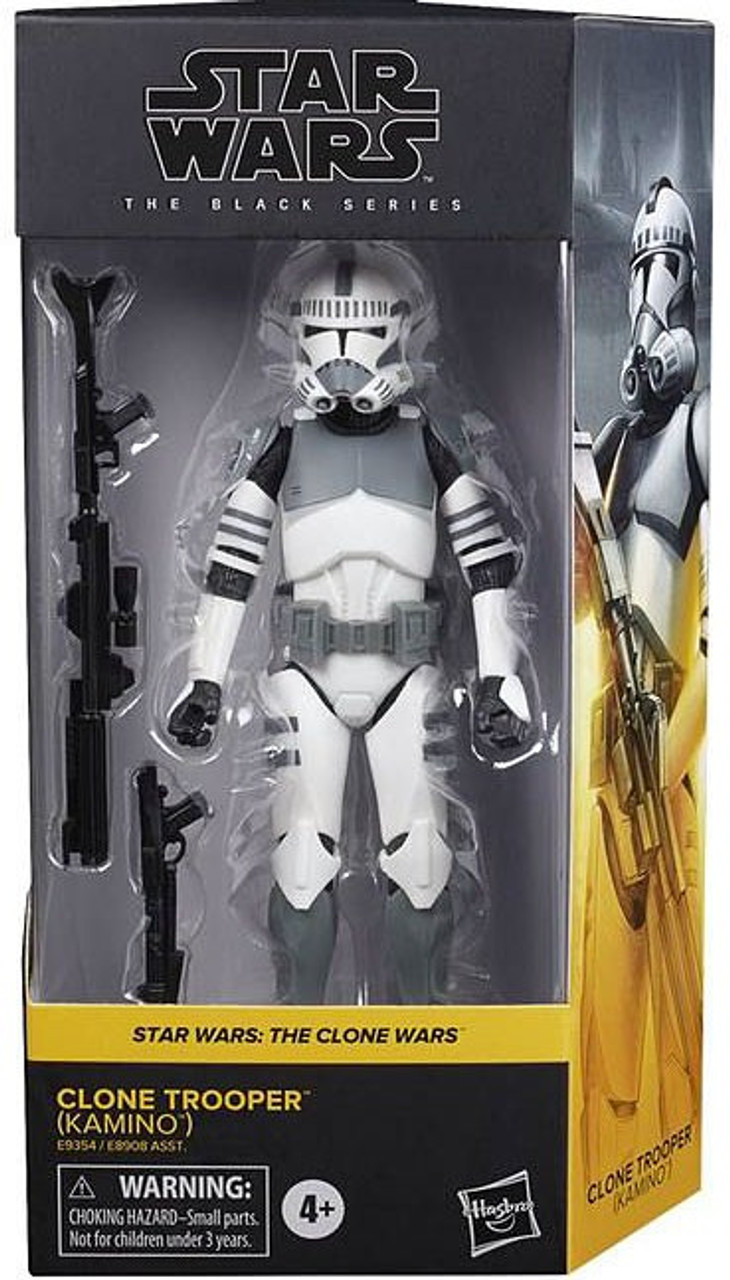 Star Wars The Clone Wars Black Series 2020 Wave 1 Clone Trooper Action Figure Kamino Hasbro Toys Toywiz