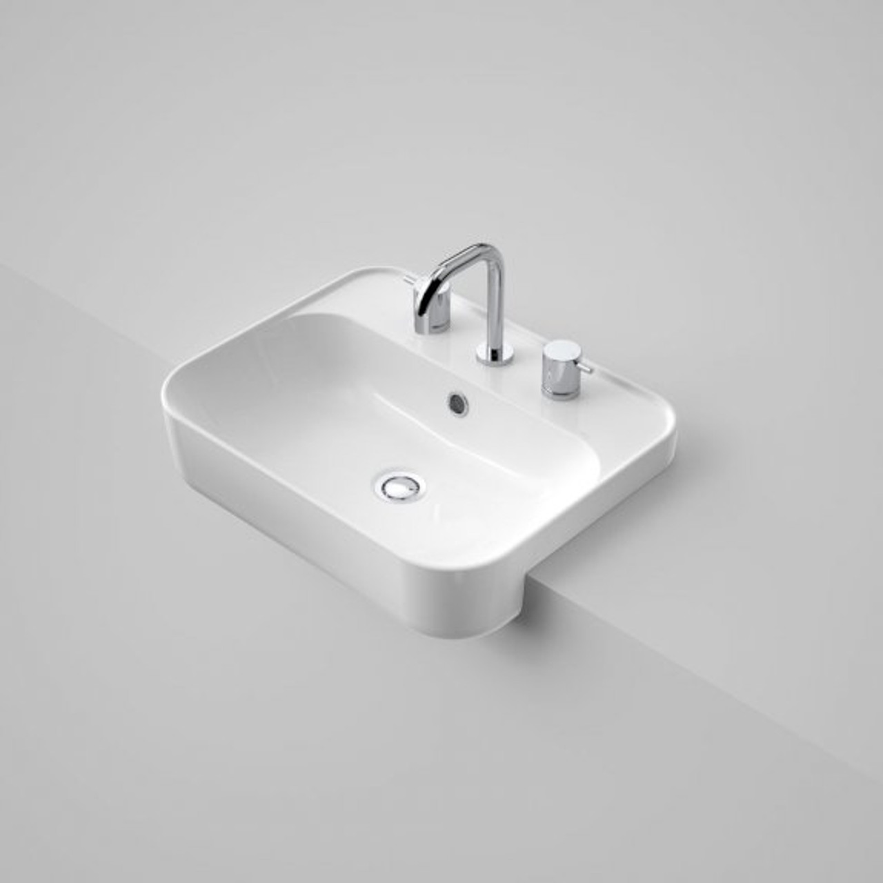 tribute rectangle 500 semi recessed basin 3th of
