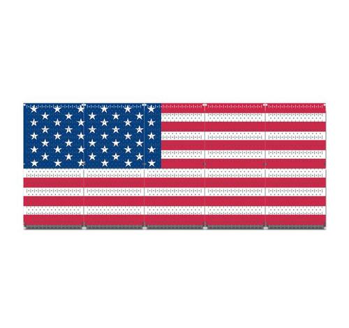 me gun wall rack american flag pegboard
