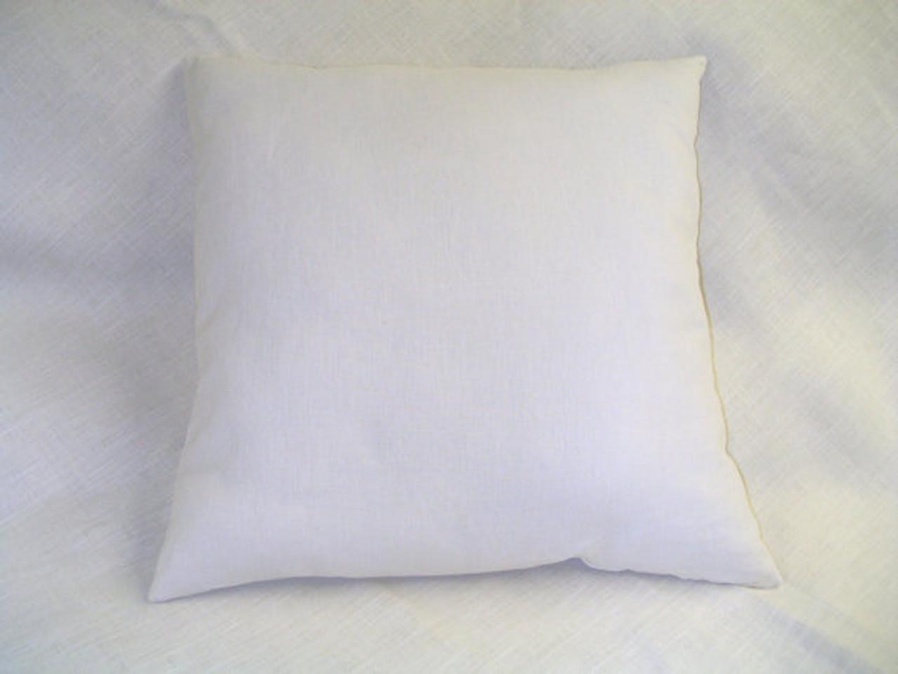 2 new organic throw pillows 16x16 handmade eco wool fill hemp cotton usa insert