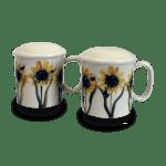 Sunflower Pattern Salt Pepper Shakers
