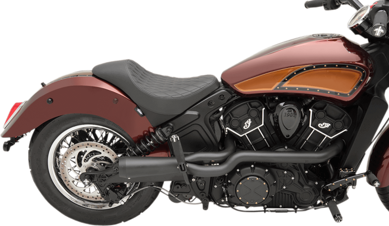 trask 2 into 1 hot rod exhaust system for 15 up indian scout scout sixty 18 up scout bobber