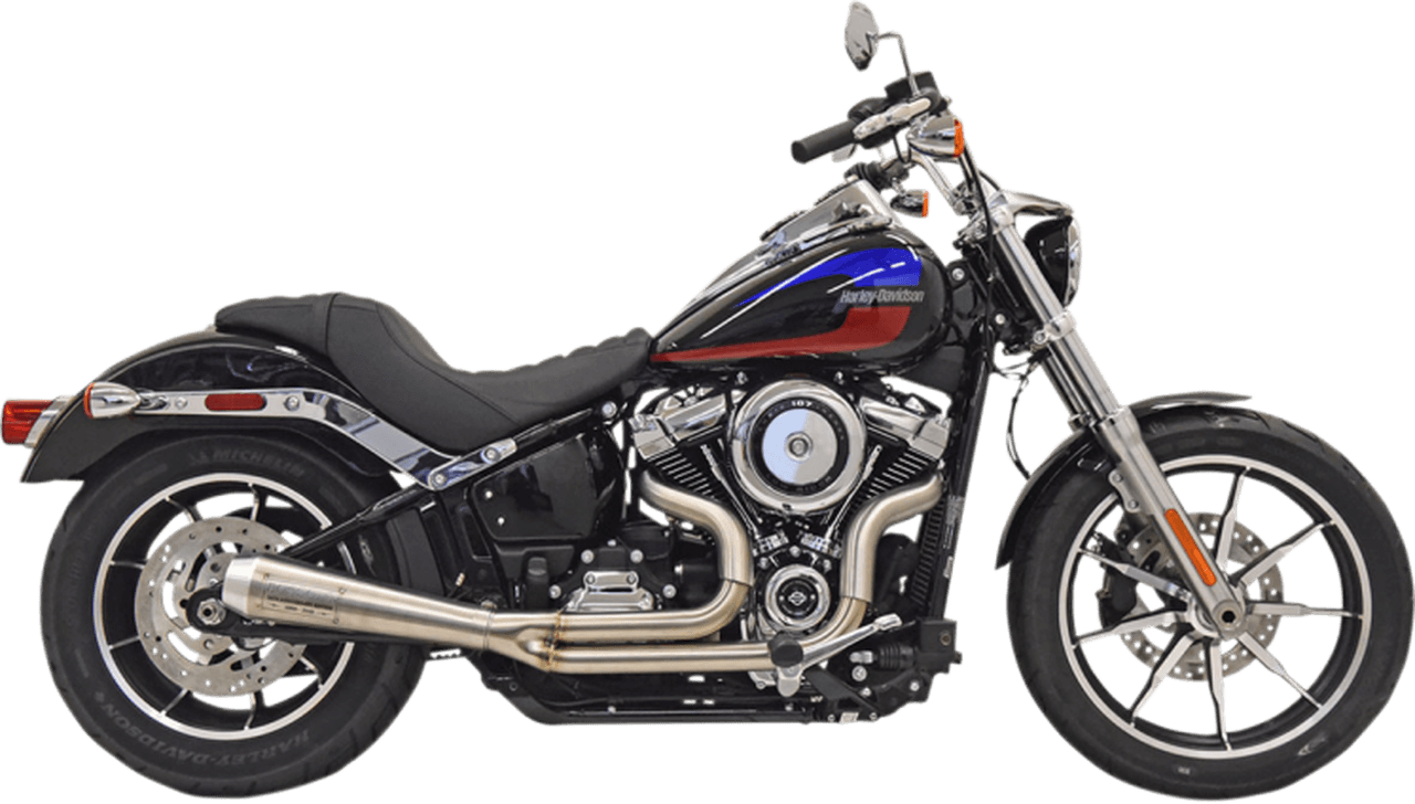 bassani 50th anniversary 2 into 1 exhaust system for 18 up street bob fxbb stainless