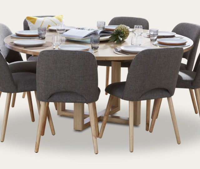 Kennedy Round Dining Suite With Alice Chairs
