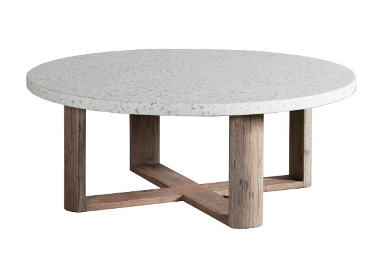 terrazzo round coffee table