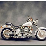 White Harley Davidson Motorcycle Poster Motorcycle Posters