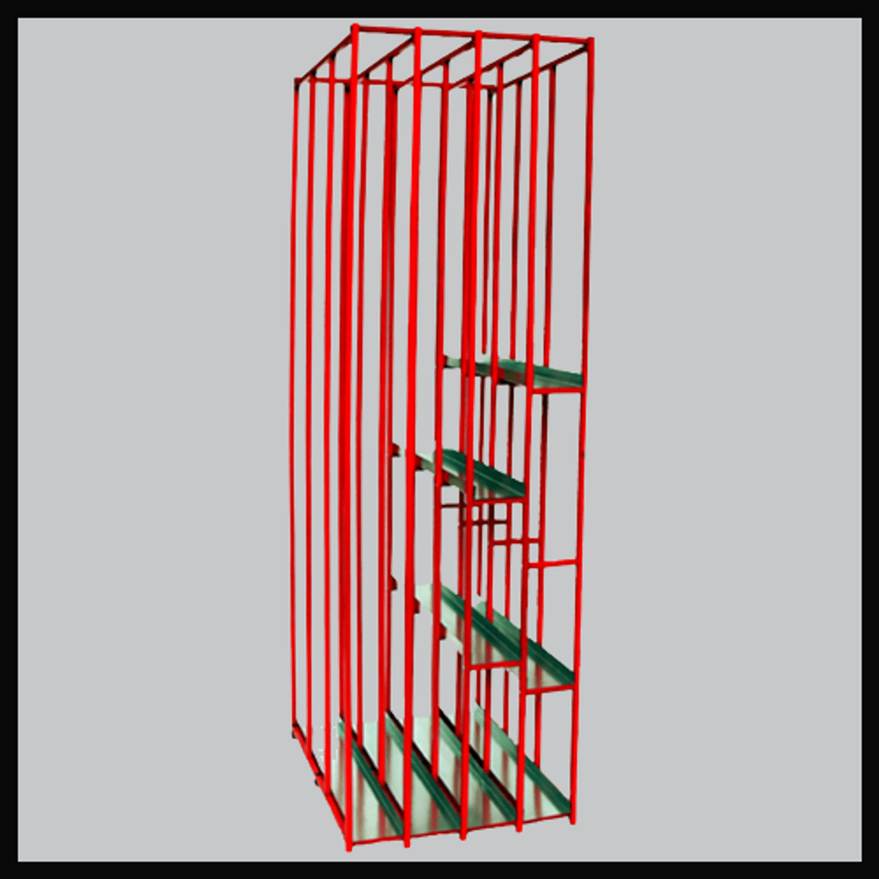storage rack for sign material vertical style