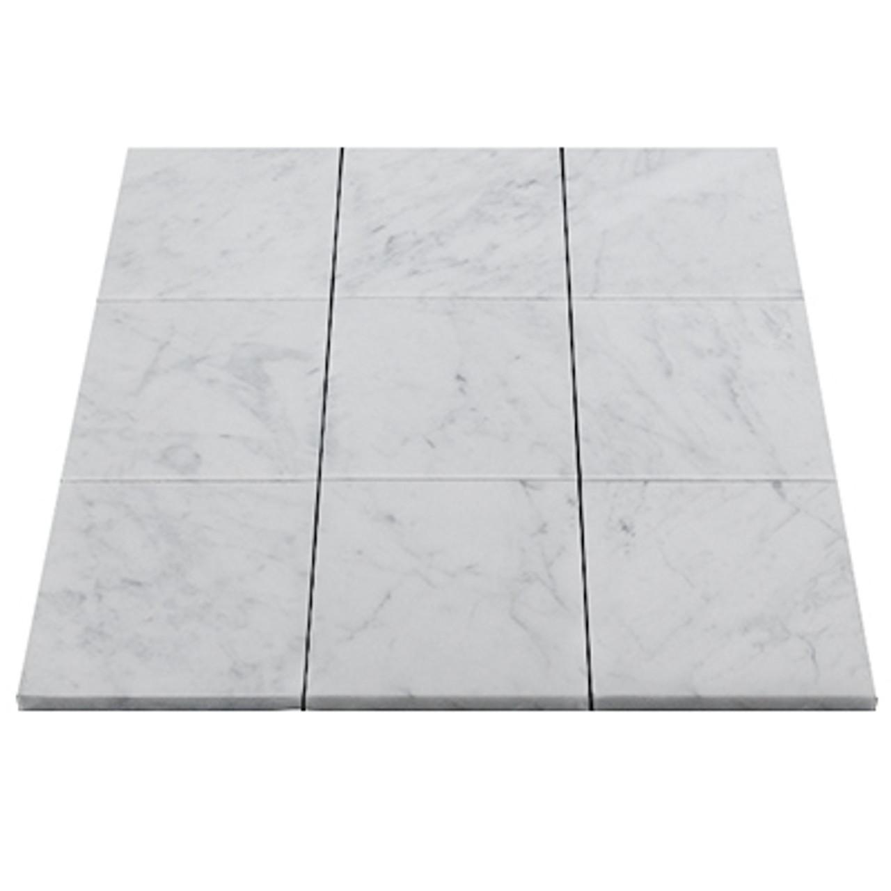 carrara marble italian white bianco carrera 4x4 marble tile honed